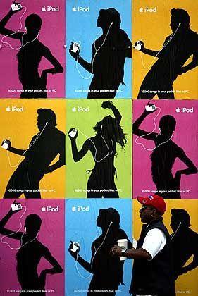 iPod-Werbung: Bekannte Plakate tanzender Menschen