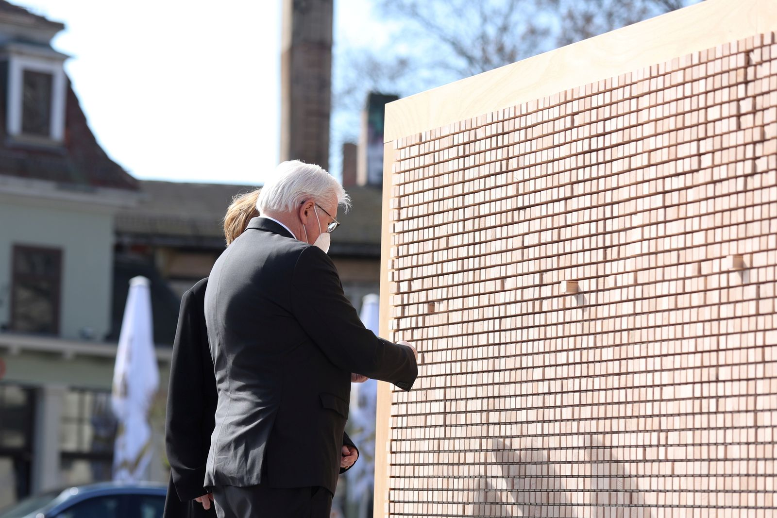 Steinmeier at 76th anniversary for the liberation of Buchenwald, in Weimar