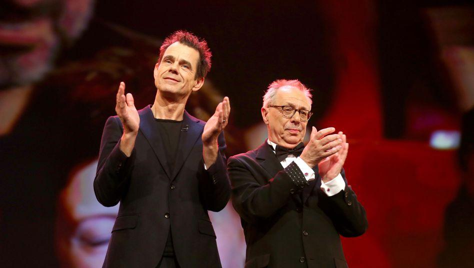 Berlinale-Jurypräsident Tom Tykwer (l.), Festivaldirektor Dieter Kosslick