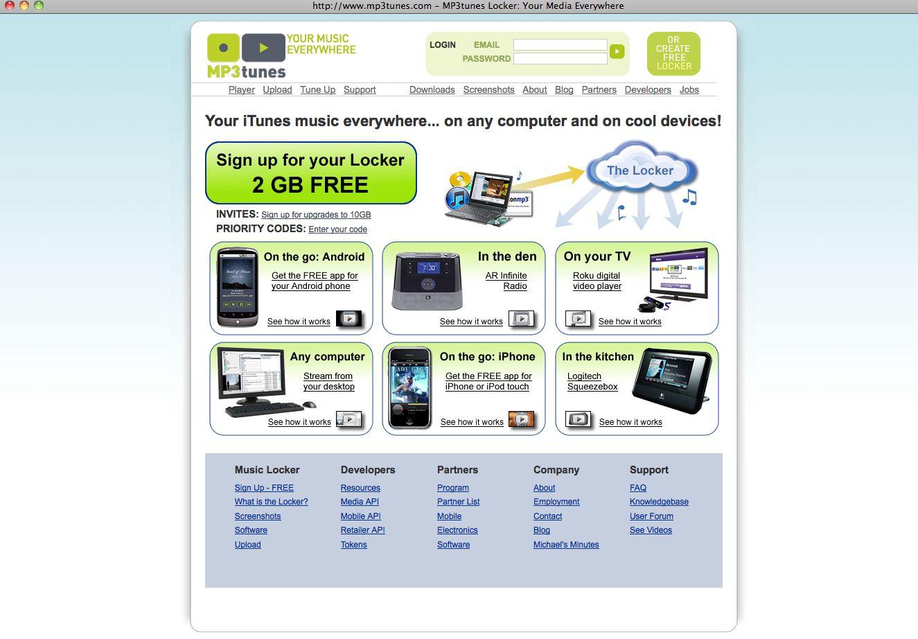 NUR ALS ZITAT Screenshot / Online-Musikspeicher