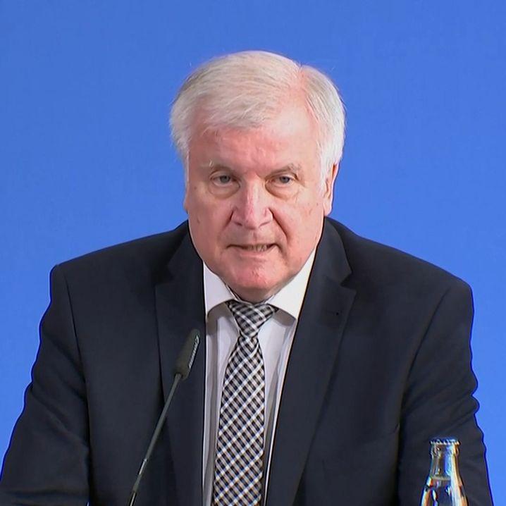 Horst Seehofer am Dienstag bei der Pressekonferenz zum Fall Lübcke.