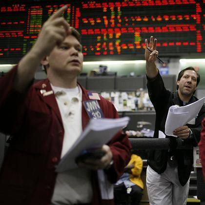 Devisenhändler an der Chicago Mercantile Exchange (Archivbild): Furcht vor der Rezession
