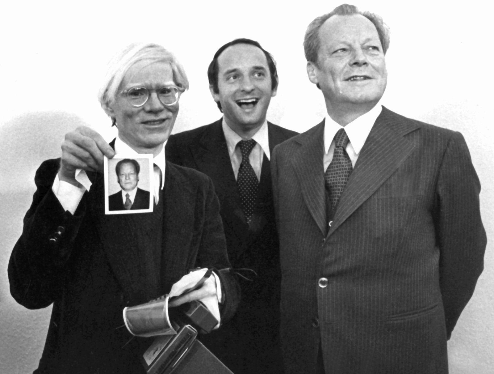Andy Warhol und Willy Brandt
