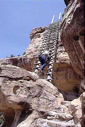 Ute Mountain Tribal Park: Auf wackeligen Leitern zu Resten einer präkolumbischen Kultur