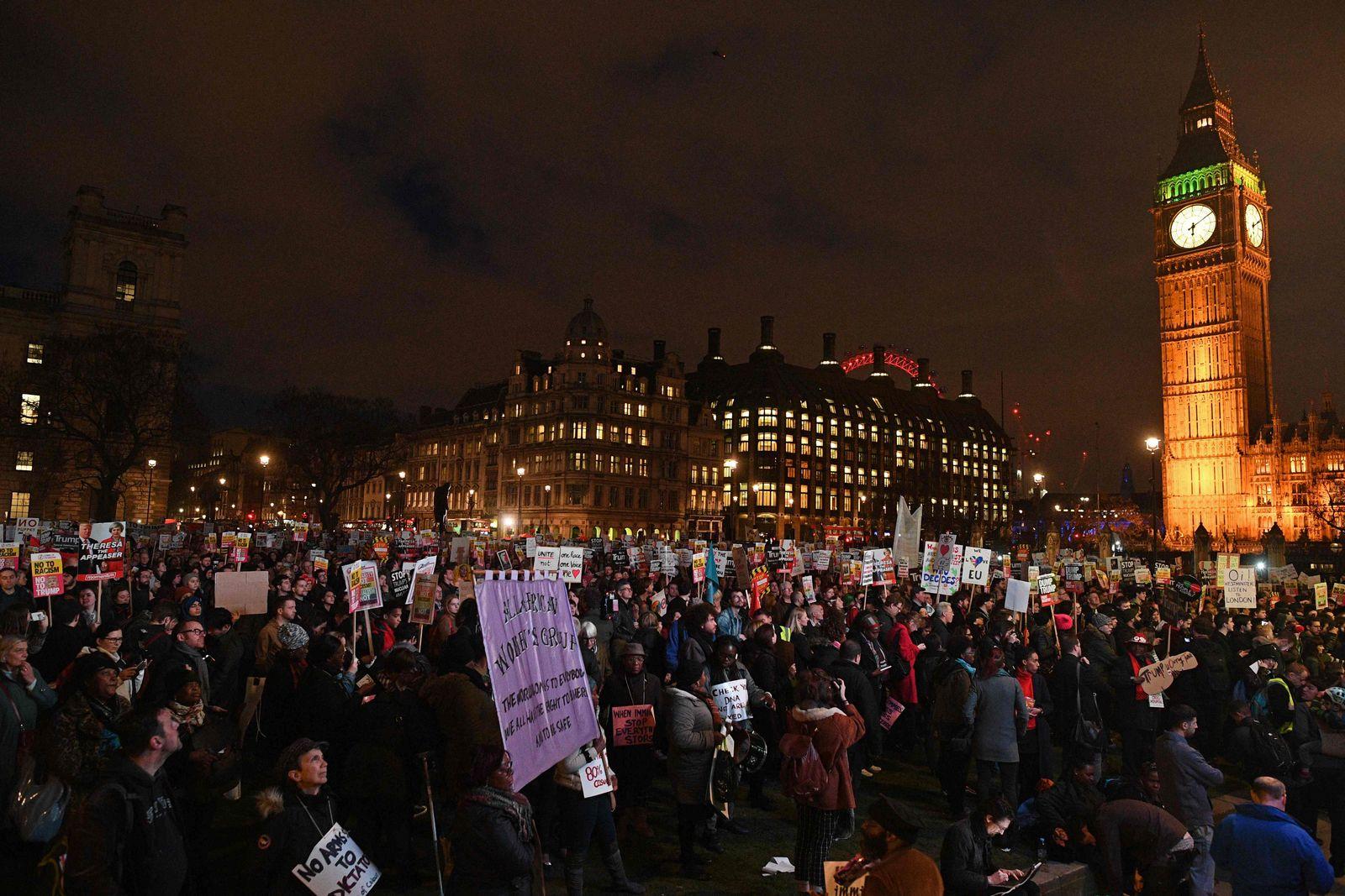 BRITAIN-US-TRUMP-PROTEST