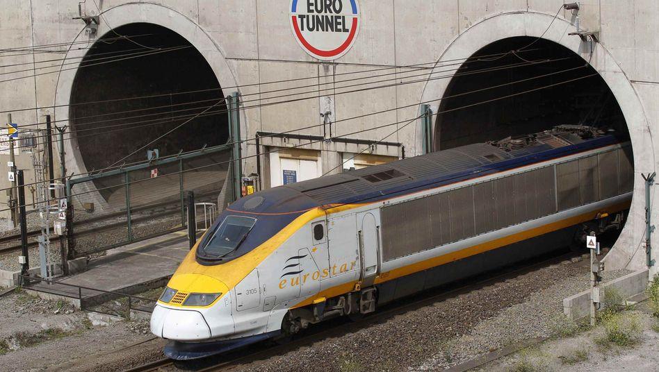 Zug im Eurotunnel nahe Calais (Archivbild): Überforderung auf allen Seiten