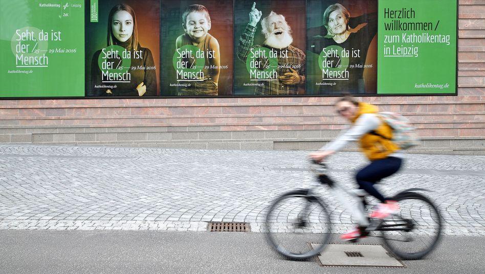 Werbung für den Katholikentag in Leipzig