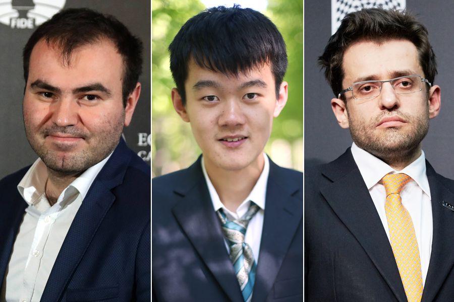EINMALIGE VERWENDUNG KOMBO Schach/ Mamedyarow/ Ding Liren/ Levon Aronian