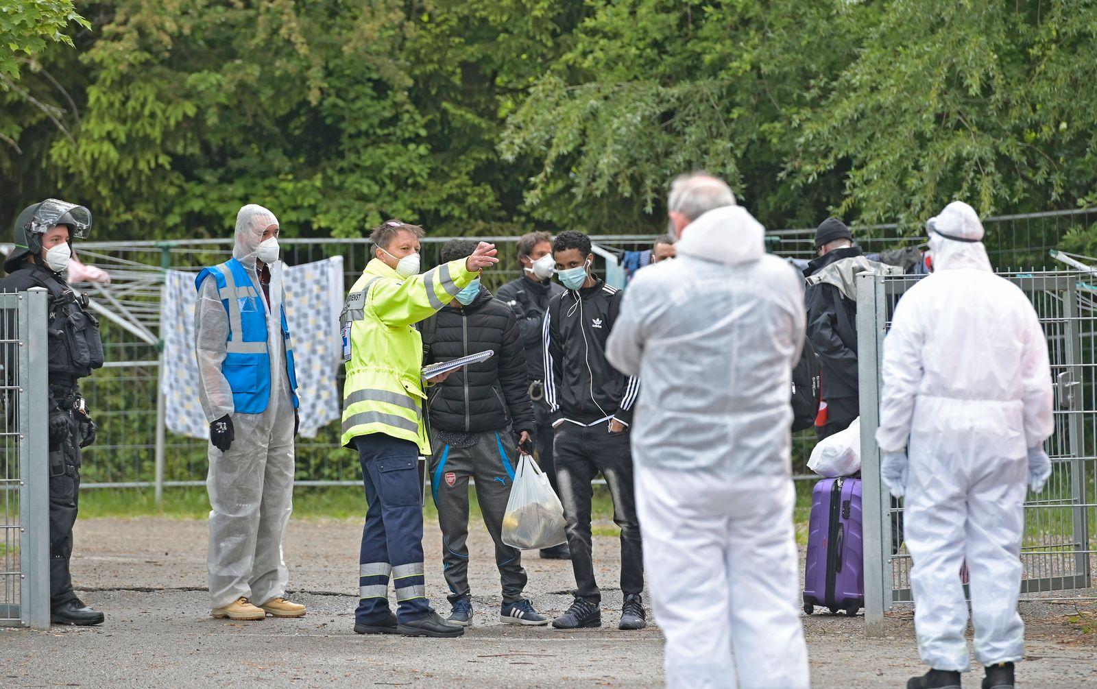 Polizeieinsatz Asylbewerberunterkunft