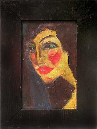 """Emil Noldes Porträt """"Nadja"""" aus dem Jahr 1919: Gemälde-Krimi mit blutrot verschmierten Wangen"""