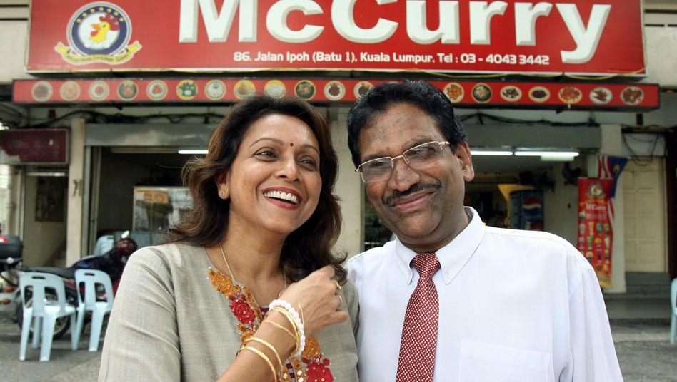 McCurry-Besitzer: Das Ehepaar Suppiah hat sich erfolgreich gegen McDonald's gewehrt