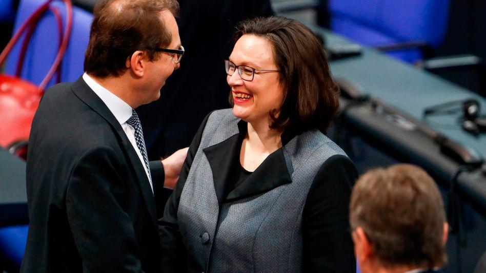 Alexander Dobrindt (CSU) und Andrea Nahles