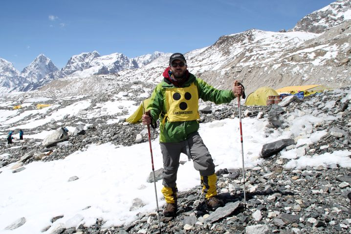 Dario Sorgato am Everest Base Camp