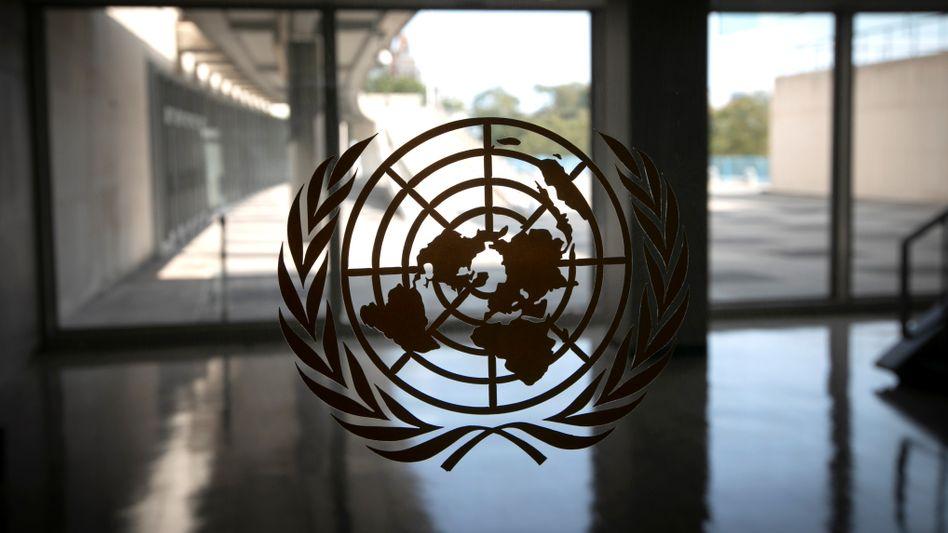 Logo der Uno in New York: Vor Kurzem hatte ein Bericht dargelegt, dass keines der 20 vor zehn Jahren für 2020 gesetzten Ziele zur Artenvielfalt erreicht worden sei