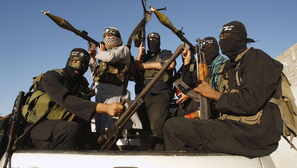 Hamas-Kämpfer im Gaza-Streifen (Archivbild): Rückendeckung von Iran und der Hisbollah
