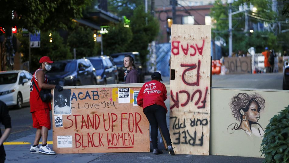 Demonstranten in Seattle