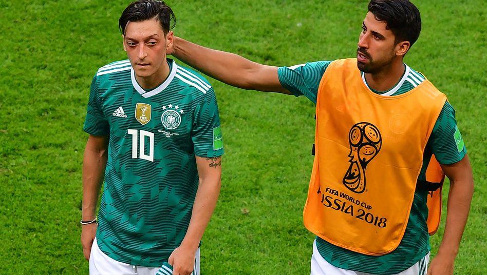 Mesut Özil (links), Sami Khedira