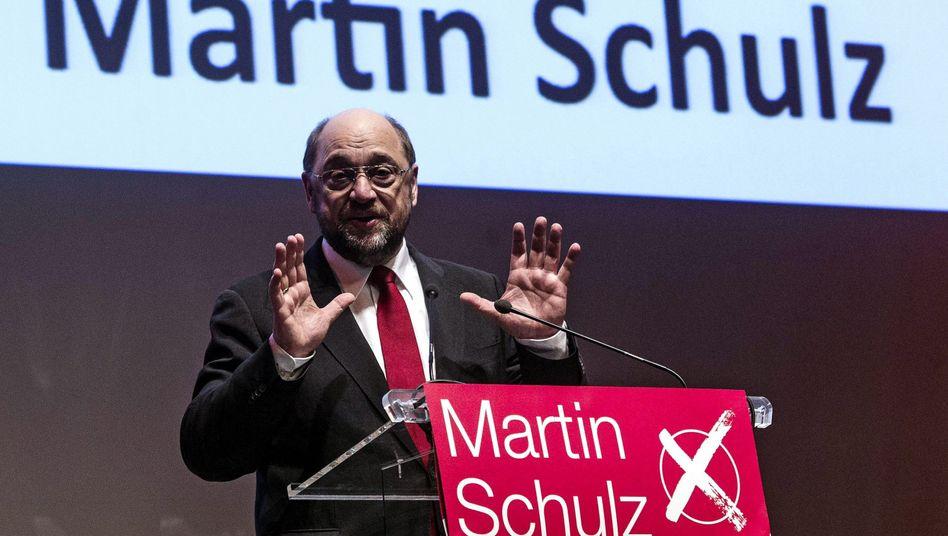 Sozialdemokrat Schulz in Rom: 91 Prozent für den Spitzenkandidaten