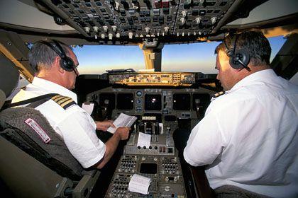 Aussicht vom Cockpit: Wenn am Himmel nichts los ist, wissen sich Piloten die Zeit mit Scherzen zu vertreiben