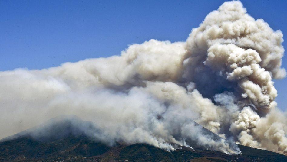 Rauchsäulen am Vesuv