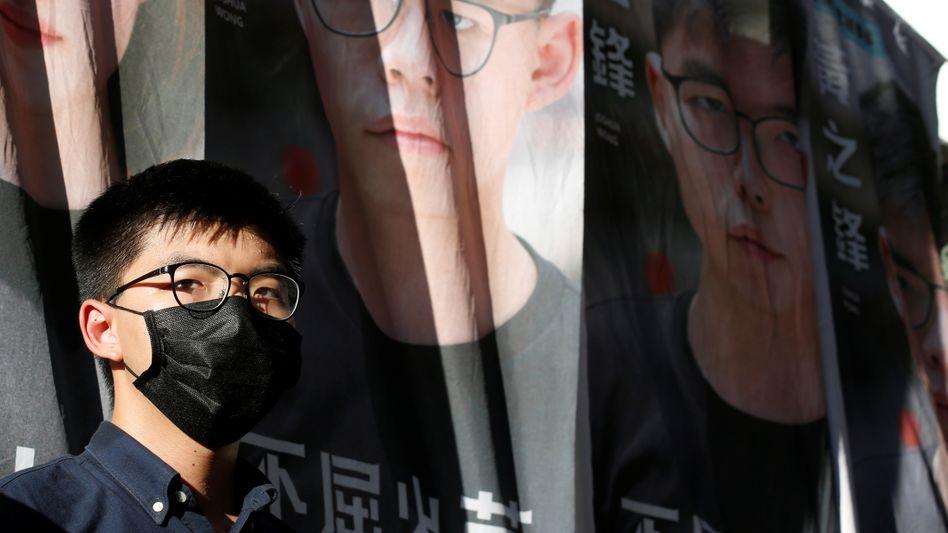 Aktivist Joshua Wong: Auch seine Bücher sind derzeit für die Entleihe gesperrt