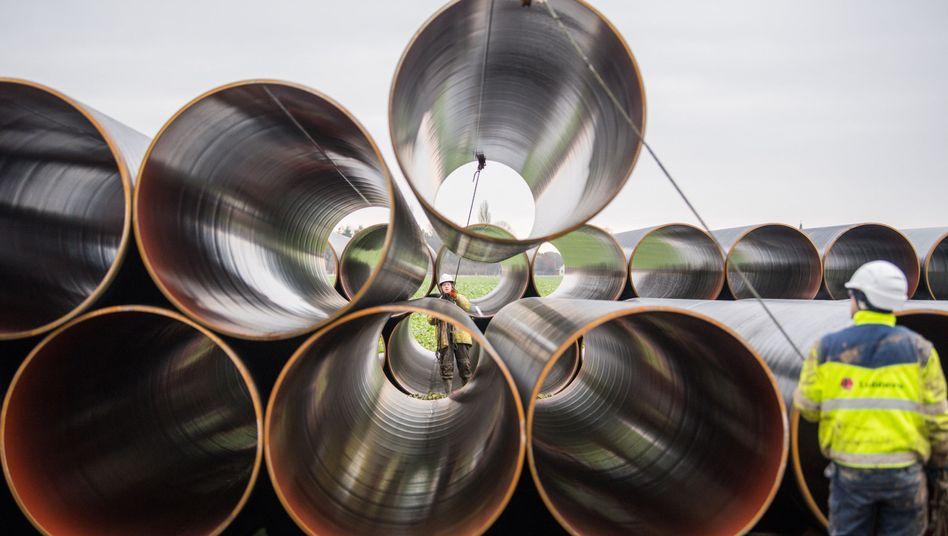 Stahlrohre für die künftige Europäische Gasanbindungsleitung (Eugal)