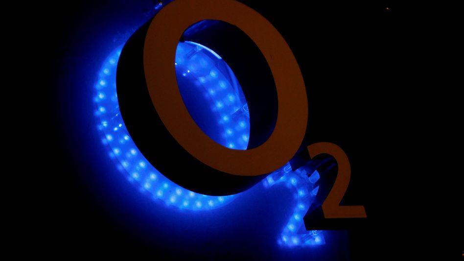 O2-Logo mit Beleuchtung