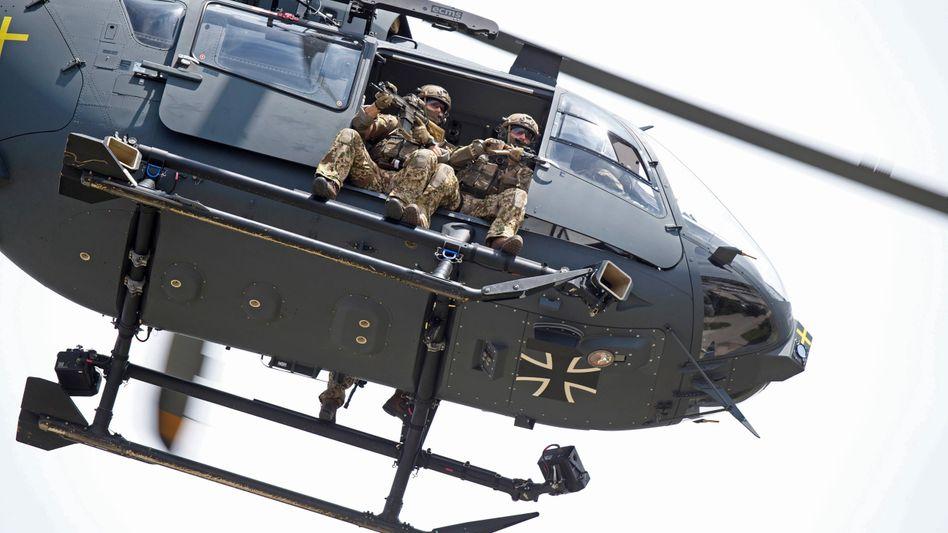 Die KSK-Helikopter sind extrem wendig und robust bewaffnet