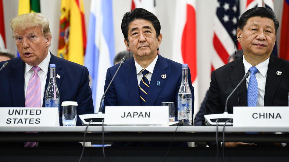 Trump, Abe und Xi beim G20-Treffen in Osaka 2019: Der US-chinesische Hegemonialkampf durchkreuzt Japans außenpolitische Pläne