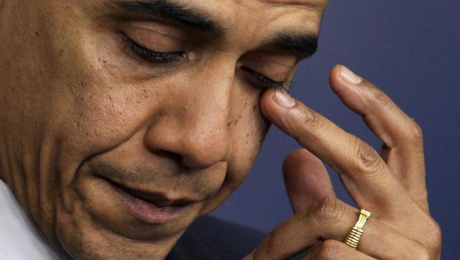 US-Präsident Obama bei Pressekonferenz: Erschüttert und wütend