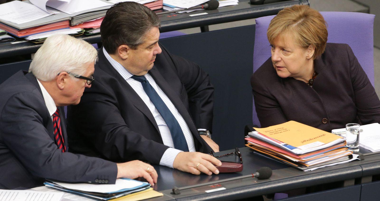 Merkel Gabriel Bundestag Haushaltsdebatte