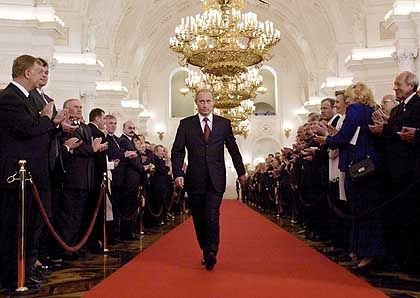Putin doesn't walk softly in the Central Asian region.