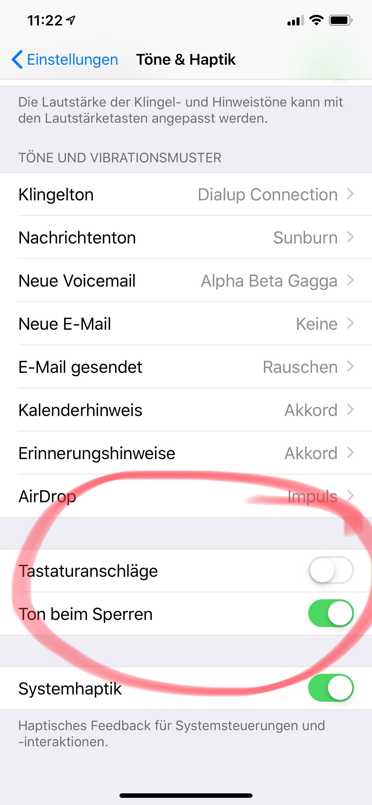 NUR ALS ZITAT Screenshot iPhone-Tipps/ TastaturtoÌne