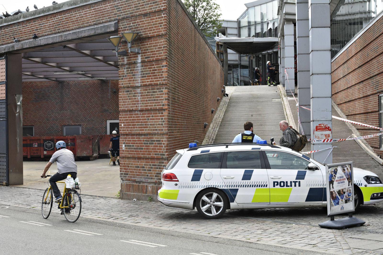 Oprydningsarbejdet efter eksplosion ved Skattestyrelsen i Koebenhavn onsdag den 7 august 2019 Fot