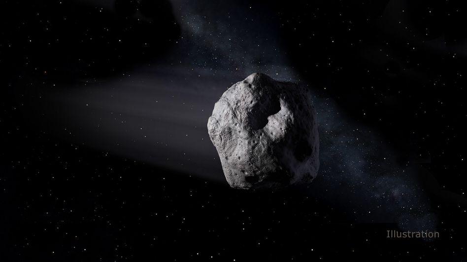 """Darstellung des Asteroiden """"1998 OR2"""": Der zwei Kilometer breite Himmelskörper ist an der Erde vorbeigeflogen"""