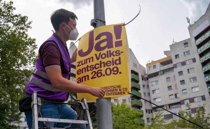 Wahlkampfplakat zum Volksentscheid: Stimmung angeheizt