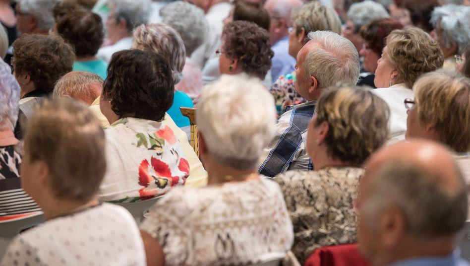 Rentner im brandenburgischen Eberswalde