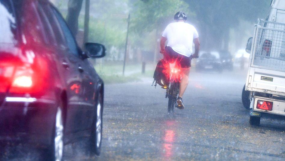 Heftige Regenschauer (hier Ende Juni in Potsdam)