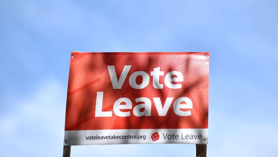 Werbung für den EU-Austritt Großbritanniens