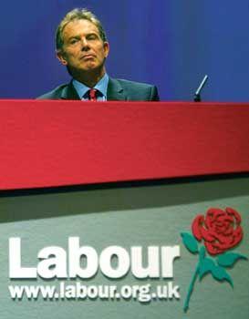 """""""New Labour"""": Blair auf dem Parteitag der britischen Arbeiterpartei"""