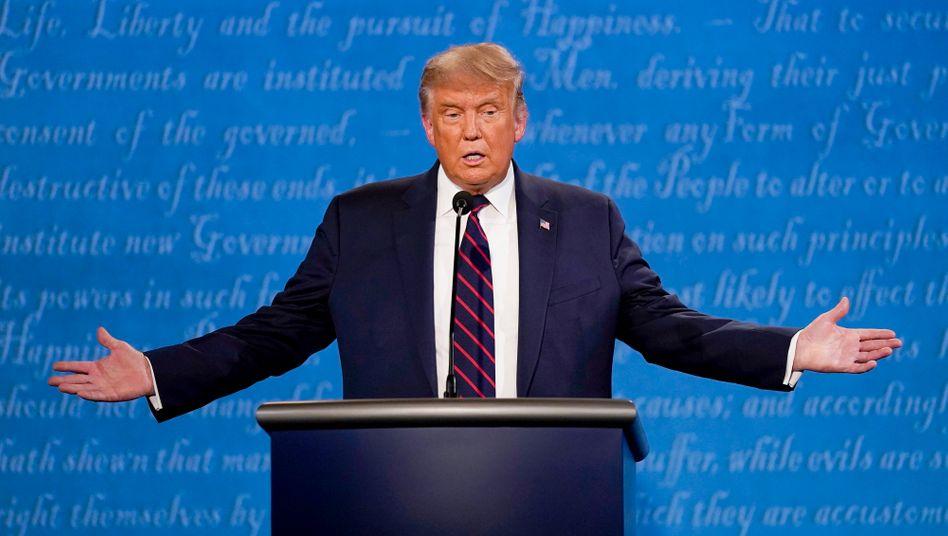 Donald Trump bei der ersten TV-Debatte in Cleveland