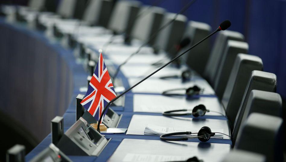 Union Jack im Europaparlament