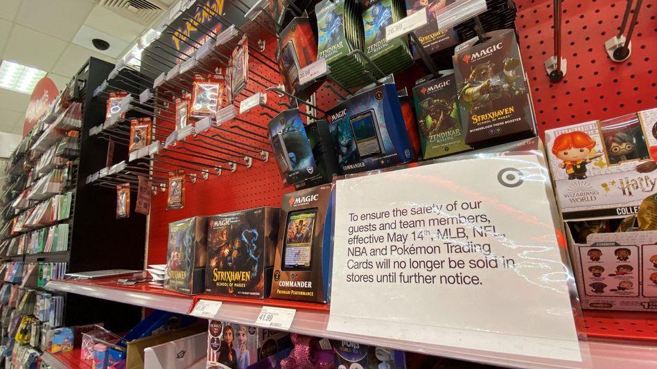 Verkauf ausgesetzt: Warnschild in einem Target-Laden in Los Angeles