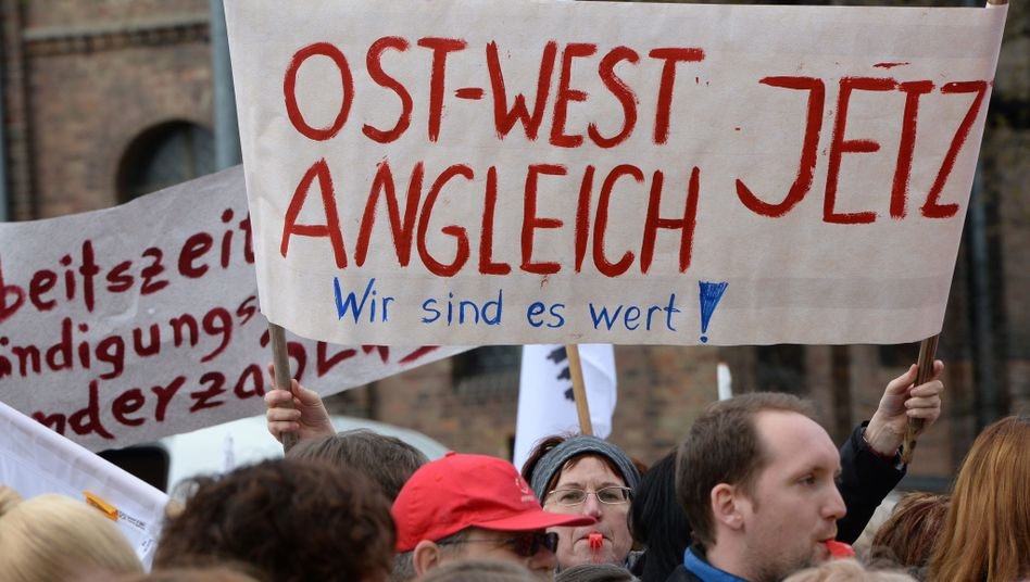Demonstranten in Potsdam