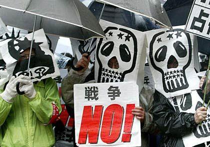 Antikriegsdemo in Tokio: Nein zum Krieg