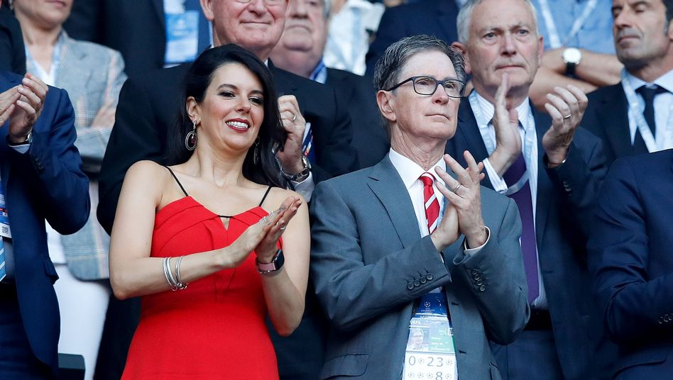 Liverpool-Eigentümer John Henry (r.) während des Champions-League-Endspiels