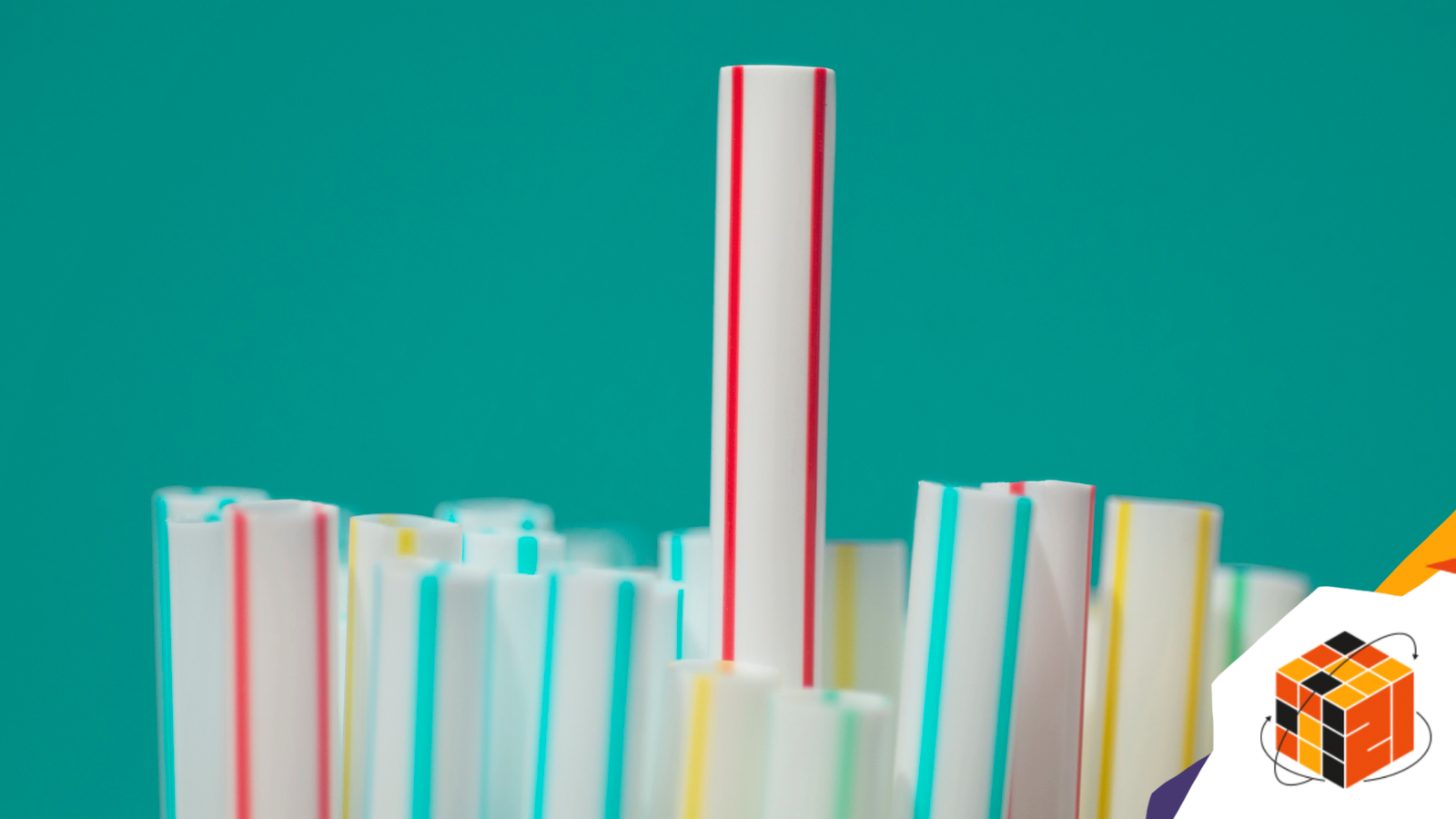 Group of STRAWS with one sticking up in the middle, objects being BANNED by some countries.