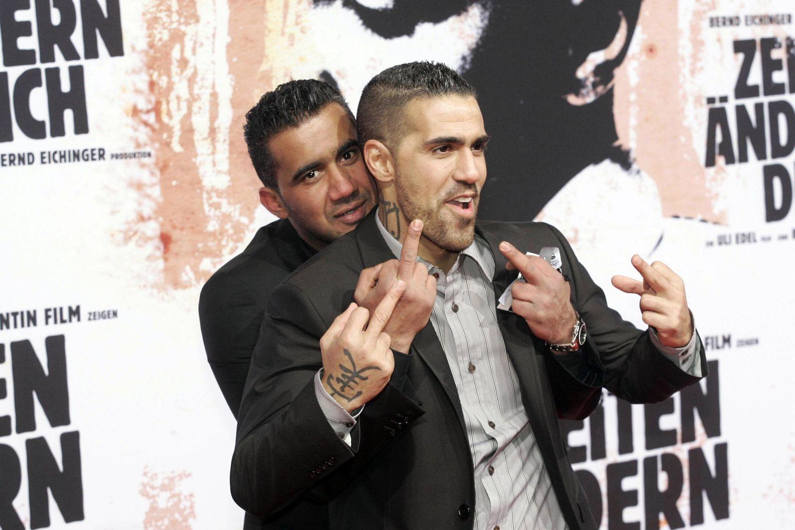 Zeiten Aendern Dich Premiere Berlin Arafat Abou Chaker and Bushido attending premiere