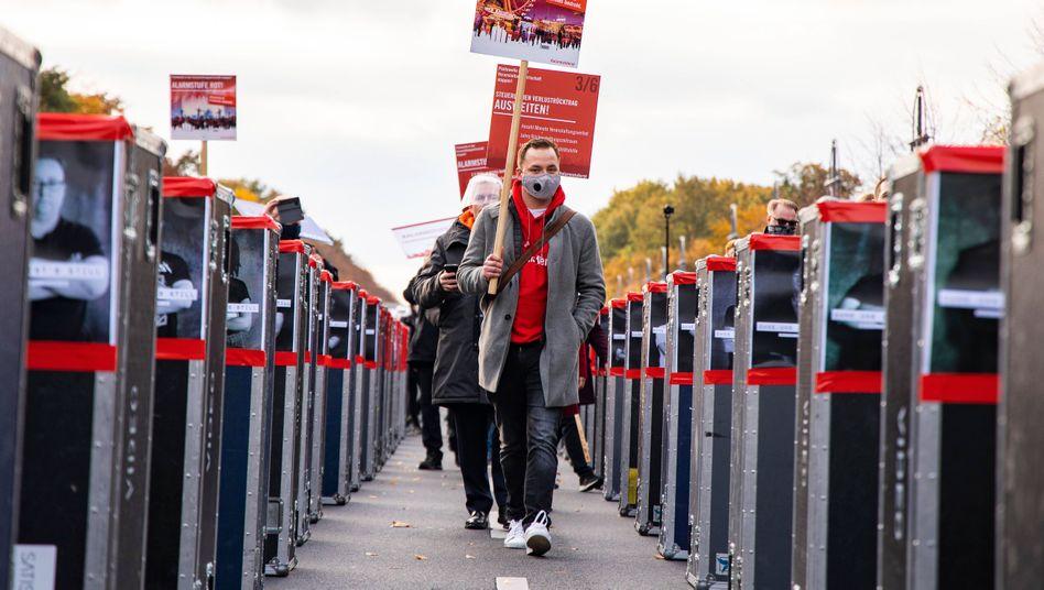 Demonstration #AlarmstufeRot: Die Veranstaltungsbranche ist hart getroffen