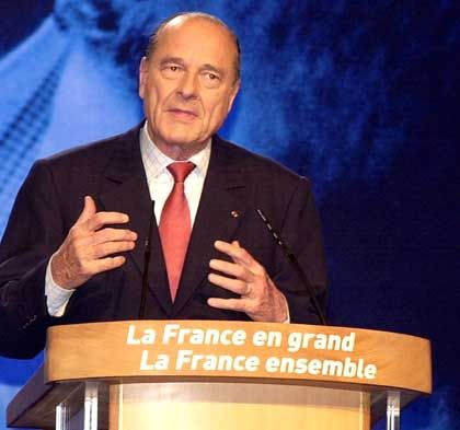 Präsident Jacques Chirac